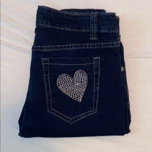 Brand new Decoded dark blue skinny jeans w bling❤️
